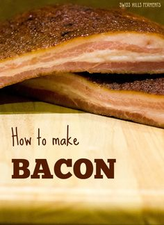 How to make bacon: recipes for pepper bacon and maple bacon-Swiss Hills Ferments