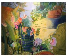 'Grandma's Garden' Landscape painting Acrylic Canvas by Dorothy Ganek Abstract Landscape, Landscape Paintings, Abstract Art, Landscapes, Acrylic Canvas, Acrylic Paintings, Garden Painting, Abstract Flowers, Flower Art