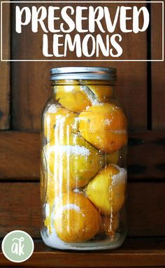 A staple of North African, Indian and Middle Eastern cuisine, preserved lemons are used in countless dishes from chicken tagines to couscous salads. Here are two simple and easy methods for including them in your culinary pursuits. Fermentation Recipes, Naan Recipe, Fruit Preserves, Preserved Lemons, Cooking Recipes, Healthy Recipes, Yummy Recipes, Eastern Cuisine, Lemon Recipes
