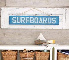Surfboard Plaque | Pottery Barn Kids