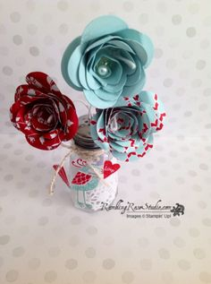 "Stampin"" Up! Spiral Flower Die | Rambling Rose Studio | Billie Moan / Occasions 2014 catalog"