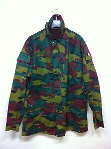RARE! Belgian Army Field Jacket CAMOUFLAGE Belgium Military Combat Uniform