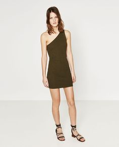 Image 1 of ASYMMETRIC NECKLINE DRESS from Zara