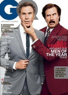 Will Ferrell/Ron Burgundy GQ cover