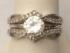 14kt White Gold Wave design Split Shank Solitaire Enhancer Diamond Ring Guard Wrap (0.25ct. tw) by RG&D... #gold #diamonds #ringguard #wrap #enhancer #fashion #jewelery #love #gift #ringjacket #engagement #wedding #bridal #engaged #whitegold #yellowgold #online #shopping #jewelry #pintrest #follow #richmondgoldanddiamonds