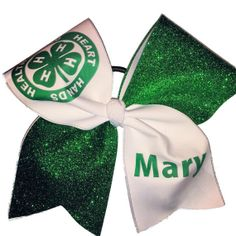 Hey, I found this really awesome Etsy listing at https://www.etsy.com/listing/179593768/4-h-personalized-cheer-bow