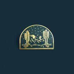 Desert Enamel Lapel Pin Badge // Artist Series pin by Joshua