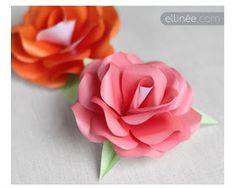 coeur de beurre scrapbooking et fantaisies: des roses en papier avec le tuto et en plusieurs couleurs: gratuit