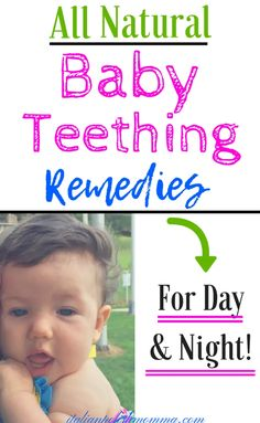 All Natural Baby Teething Remedies! Is your baby up all night teething in pain? Here are 12 all natural teething remedies for babies that will save your sanity! These remedies include both day and night time teething pain relief! Baby Teething Remedies, Teething Symptoms, Natural Teething Remedies, Natural Remedies, Baby Health, Kids Health, Children Health, Natural Parenting, Parenting Advice