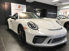 2018 Porsche 911 GT3 finished in Chalk AVAILABLE TODAY! This gorgeous example features a manual transmission and over 50k in options!