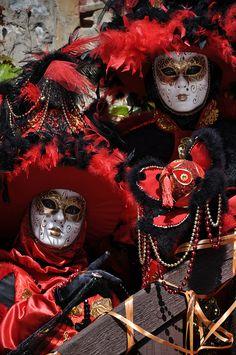 Red and black Venetian aristocrat royalty...