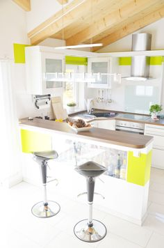 Modern Interior Kitchen Decoration Plant Home Colourful