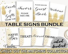 Table Signs Bundle Bridal Shower Table Signs Bundle Pineapple Bridal Shower Table Signs Bundle Bridal Shower Pineapple Table Signs 86GZU #bridalshower #bride-to-be #bridetobe