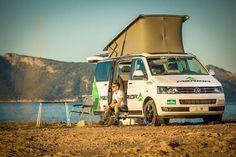 VW Multivan Beach for Merida racing team T6 California Beach, California Camping, T5 Bus, Volkswagen Westfalia, Camper Caravan, Vw Vans, Racing Team, Caravans, Campervan