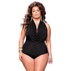1bde01df1c Women s Elegant Ruffle Front One-Piece Bathing Suit XL-3XL 2 Colors. Plus  Size ...