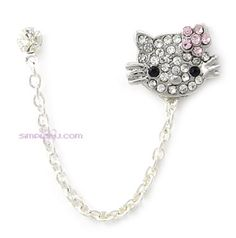 Items similar to Pink Rhinestone Hello Kitty Flower Chain Double Piercing Earring on Etsy Hello Kitty Wedding, Body Jewelry, Unique Jewelry, Jewlery, Industrial Piercing Jewelry, Double Piercing, Groom Ties, Cute Ear Piercings, Cute Earrings