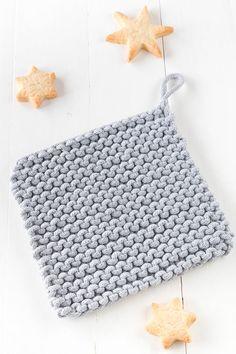einfache Topflappen stricken - für Anfänger