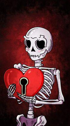 Heart Skull iPhone Wallpaper - iPhone Wallpapers