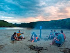 Beach jamming session