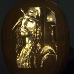 Johnny Depp Pumpkin....Photo: Alex W./ youroldhouse.thisoldhouse.com | thisoldhouse.com | from Editors' Picks: Best Pumpkin Carvings Ever
