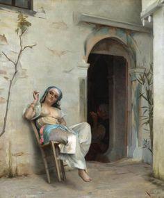Ράλλης Θεόδωρος-Turkish woman smoking