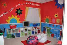colorful & organized kids play room! :)