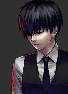 Anime | Boy | Badass | Tokyo Ghoul | Cute | Kawaii | Kaneki Ken | Black hair