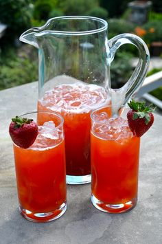 Sweet Southern Strawberry Iced Tea Recipe
