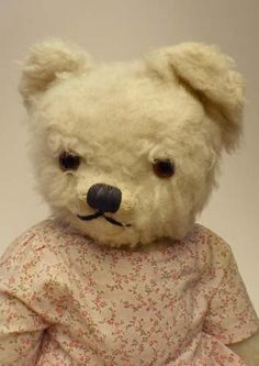 Old Bear - Vintage Chad Valley Bear in dress - 1940s / 1950s