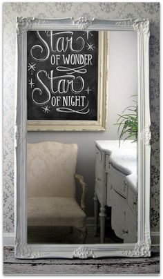 Leaning White Baroque Mirror,  Large Shabby Chic Mirror, Vintage, Leaner, Floor on Etsy, $498.00