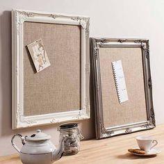 decorative framed hessian memo board by primrose & plum | notonthehighstreet.com