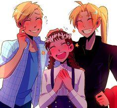 Fullmetal Alchemist/Alphonse, Nina, and Edward
