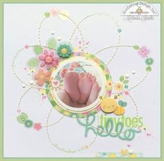 Doodlebug Design Inc Blog: Spring Things Collection: Hello Tiny Toes Layout by Melinda Spinks