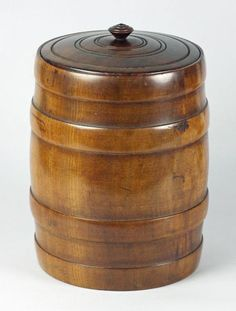 BARREL SHAPED TOBACCO/TEA JAR