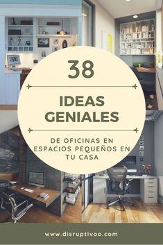 Las mejores ideas de oficinas en espacios pequeños en tu casa Ideas para crear tu propia oficina en tu casa aunque tengas poco espacio.   #oficinaencasa #diseño #homeofficeideas #casasmodernas #sedisruptivoo