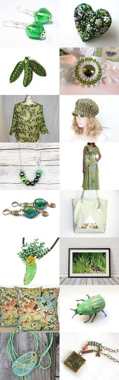 Gorgeous greens ♥ by Andrea on Etsy--Pinned with TreasuryPin.com
