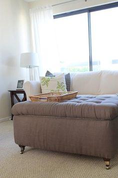 DIY Storage Ottoman DIY home furniture