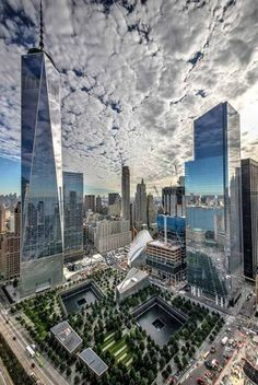 WTC site camouflaged by the clouds