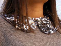 Sequin Peter Pan collar necklace