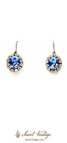 Sapphire blue Swarovski crystals for your something blue! #jewelryforacause