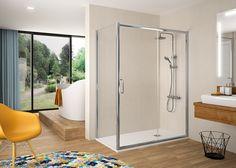 Frente de ducha fijo + puerta corredera - mampara bella - kassandra