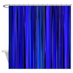 Blue Stripes Shower Curtain Cafepress