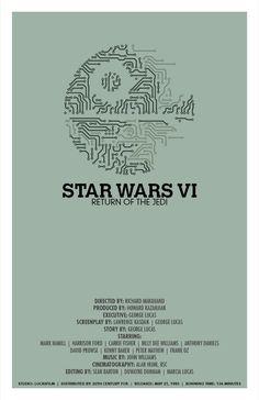 Star Wars Movie Poster // Return of the Jedi // par TheGeekerie