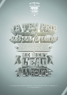 /// Typographie 3D /// by Alexis Persani, via Behance