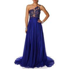 Coya Collection Viviana-Royal Prom Dress ($220) found on Polyvore
