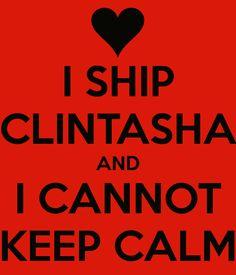 Clintasha! I actually can keep calm, but still, I like this. I also ship BuckyxNatasia