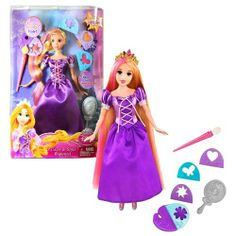 """Mattel Year 2011 Disney Princess Movie Series """"Tangled"""" 11 Inch Doll - Color and Style Rapunzel with 4 Shapes, Clipper, Paintbrush and Hairbrush by Mattel. $24.99. Paintbrush and palette in hand, Rapunzel fills her stone tower with a rainbow of colors. Now you can """"paint"""" like your favorite princess with Color and Style!"""