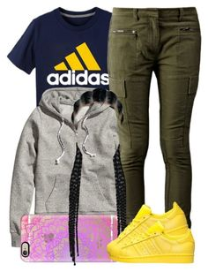 """""""2 7 16"""" by miizz-starburst ❤ liked on Polyvore featuring adidas, H&M, 3.1 Phillip Lim, Casetify, women's clothing, women, female, woman, misses and juniors"""