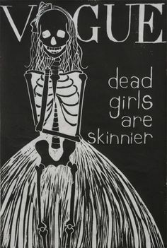 Vogue. Advertising fashions for the dead since 1891 ~ THANK YOU Arthur Turnure.