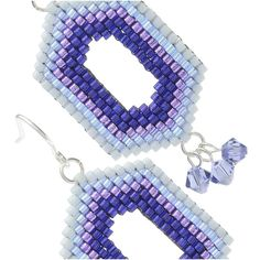 Ombre Window Earrings in Ultra Violet - Beading Projects & Tutorials - Beading Resources | Beadaholique